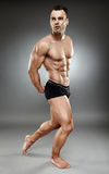 Bodybuilder full length Stock Photos