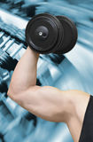 Bodybuilder and gym Royalty Free Stock Photography