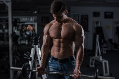 Bodybuilder in the gym Royalty Free Stock Photo