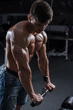 Bodybuilder in the gym Royalty Free Stock Images
