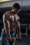 Bodybuilder in the gym Stock Photo
