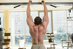 Bodybuilder in gym royalty free stock image