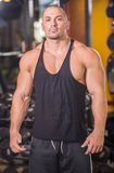 Bodybuilder at gym Stock Images
