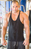 Bodybuilder at gym Royalty Free Stock Photography