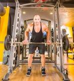 Bodybuilder at gym Stock Photos
