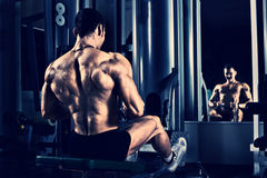 Bodybuilder in gym Royalty Free Stock Photography