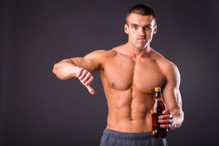Bodybuilder for a healthy lifestyle Stock Photography