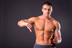 Bodybuilder for a healthy lifestyle Royalty Free Stock Photography