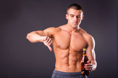 Bodybuilder for a healthy lifestyle Royalty Free Stock Photos