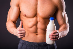 Bodybuilder for a healthy lifestyle Royalty Free Stock Images