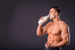 Bodybuilder for a healthy lifestyle Stock Image
