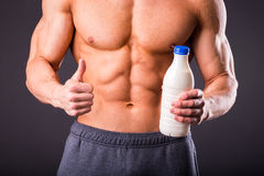 Bodybuilder for a healthy lifestyle Stock Photos
