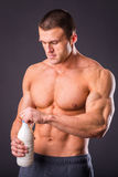 Bodybuilder for a healthy lifestyle Royalty Free Stock Photo