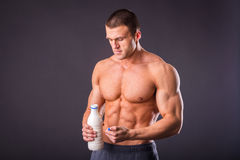 Bodybuilder for a healthy lifestyle Stock Photo