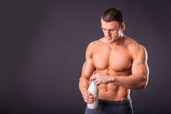 Bodybuilder for a healthy lifestyle Stock Images