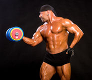 Bodybuilder hermoso Imagenes de archivo