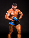 Bodybuilder hermoso Foto de archivo