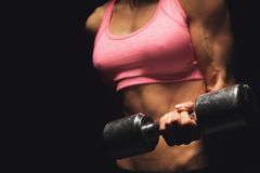 Bodybuilder het Uitwerken Stock Foto