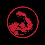 Bodybuilder icon Stock Photos