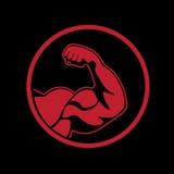 Bodybuilder icon Stock Photos