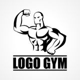 Bodybuilder Icon or Symbol Stock Photo
