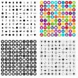 100 bodybuilder icons set vector variant. 100 bodybuilder icons set vector in 4 variant for any web design isolated on white stock illustration