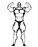 Bodybuilder illustration Royalty Free Stock Photo