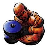 Bodybuilder illustration Royalty Free Stock Photography