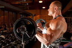 Free Bodybuilder In Training Room Stock Images - 11140744
