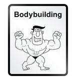 Bodybuilder Information Sign Stock Photo