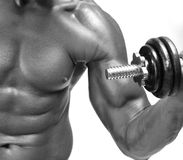 Bodybuilder intense Photo libre de droits