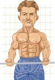 Bodybuilder intense Photographie stock libre de droits