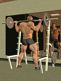 Bodybuilder lifting barbell Royalty Free Stock Images