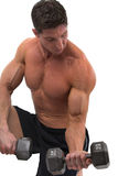 Bodybuilder lifting weights Royalty Free Stock Photo