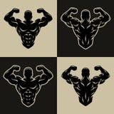 Bodybuilder logo, symbol Obraz Royalty Free
