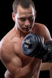 Bodybuilder looking into the camera Royalty Free Stock Images