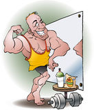Bodybuilder in love Royalty Free Stock Photography