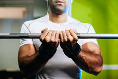 Bodybuilder male hands close up Stock Image