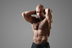 Bodybuilder. Man with muscular body Stock Image