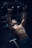 Bodybuilder masculin, modèle de forme physique Image stock