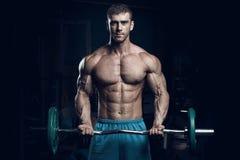 Bodybuilder masculin, modèle de forme physique Photo libre de droits