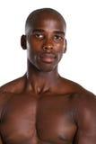 Bodybuilder masculino africano Imagen de archivo libre de regalías