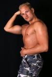bodybuilder mięśni pokazywać Obrazy Royalty Free
