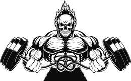 Bodybuilder mit einem Barbell