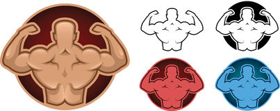 Bodybuilder model illustration Royalty Free Stock Images