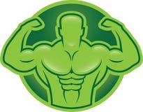Bodybuilder model illustration Stock Photo