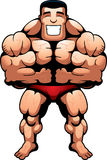 Bodybuilder Muscles. A cartoon bodybuilder flexing his muscles Royalty Free Stock Photography