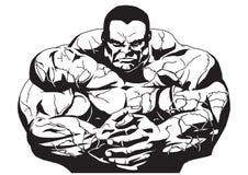 Bodybuilder musculaire Image libre de droits