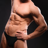 Bodybuilder musculaire beau Photos libres de droits