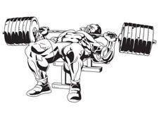 Bodybuilder musculaire dans la formation Photographie stock libre de droits